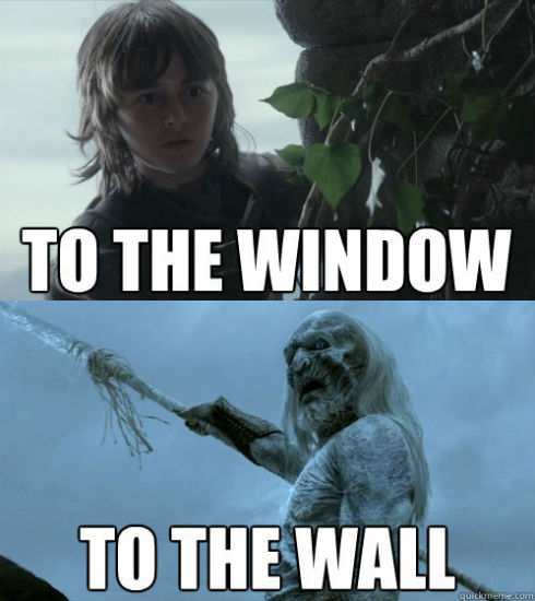 Window to the Wall game of thrones