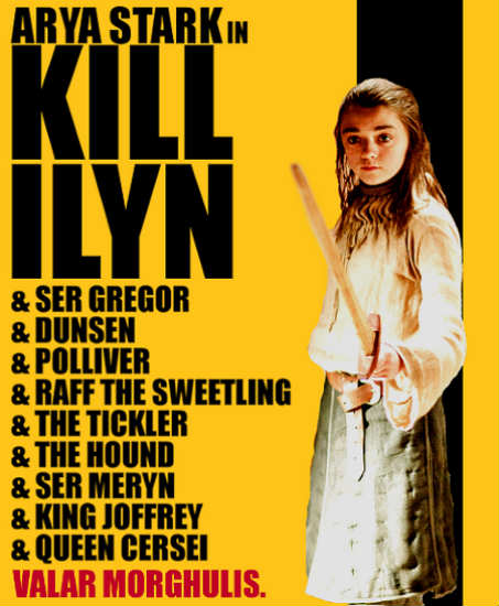 arya stark kill bill