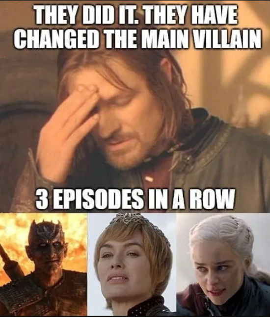 game thrones finale meme