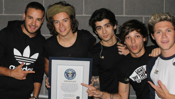 one direction guinness world record
