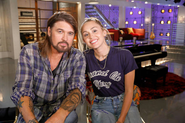 miley cyrus and dad